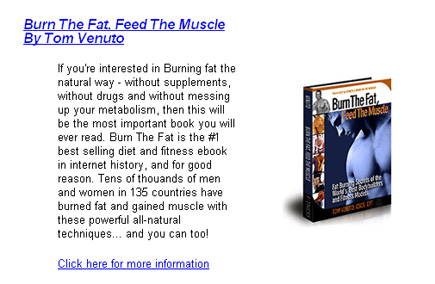 Burn The fat for weight lass