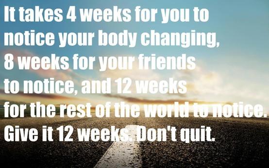 12 weeks to change you life