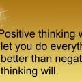 postitive thinking