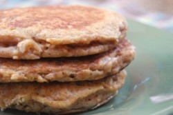 High Protein Apple Cinnamon Oatmeal Pancakes