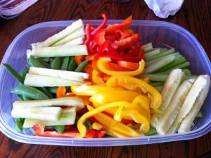 Prepping Fruits and Vegetables