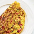 omelette with peppers and onions