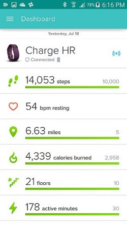All Round Fitness Tracking – Fitbit plus My Fitness Pal