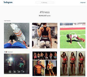 Instagram fitness hashtag