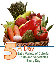 Eat 5 fruits and vegetables a day