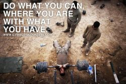 Do what You Can Where You are