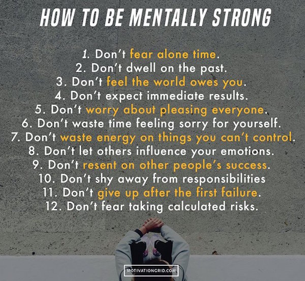 It's important to be mentally strong to lose weight fast