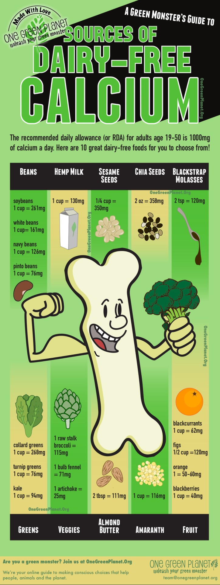 dairy free calcium