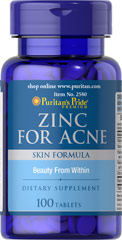 Zinc and more to cure acne