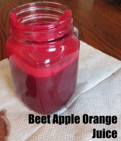 Beet Apple Orange Juice which is very healthy and full of antioxidants