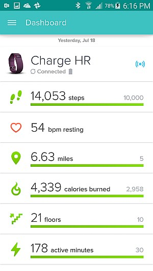 All Round Fitness Tracking - Fitbit plus My Fitness Pal