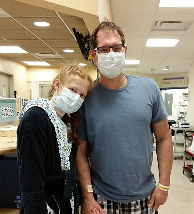 The two of us in the hospital the day after kidney transplant