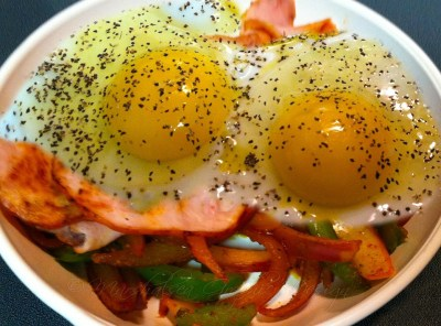 keto diet friendly ham and eggs