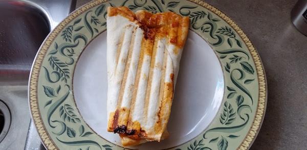 burrito on a plate