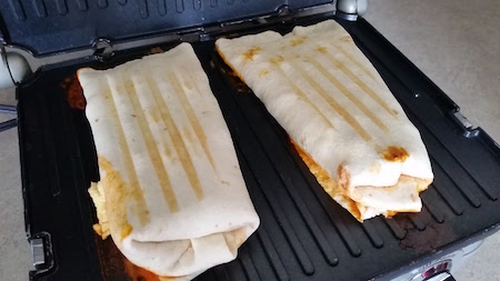 partly cooked burrito